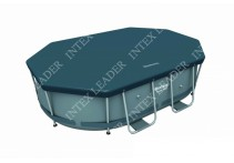 58424 Тент для каркасного бассейна Power Steel Oval Pools 300х200х84 см Bestway